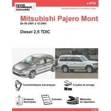 e-RTA MITSUBISHI Pajero Montero Diesel (05-2001 à 12-2005)