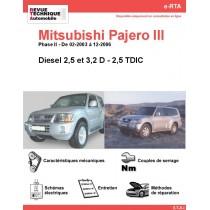 e-RTA MITSUBISHI Pajero III  Diesel (02-2003 à 12-2006)