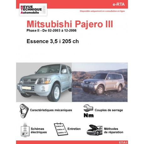 e-RTA MITSUBISHI Pajero III Essence (02-2003 à 12-2006)