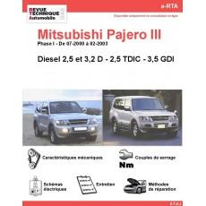 e-RTA MITSUBISHI Pajero III  Diesel (07-2000 à 02-2003)
