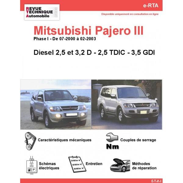 Revue technique mitsubishi pajero gratuite