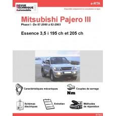 e-RTA MITSUBISHI Pajero III Essence (07-2000 à 02-2003)