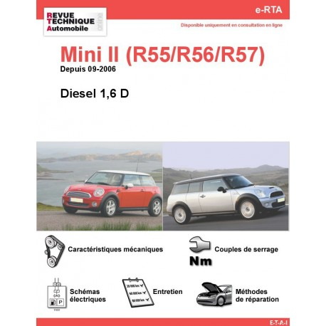 e-RTA Mini II (R55/R56)  Diesel (Depuis 09-2006)