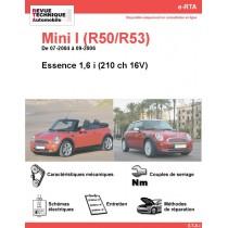 e-RTA Mini I (R50/R52/R53) Essence 1,6i 210 ch 16V (07-2004 à 09-2006)