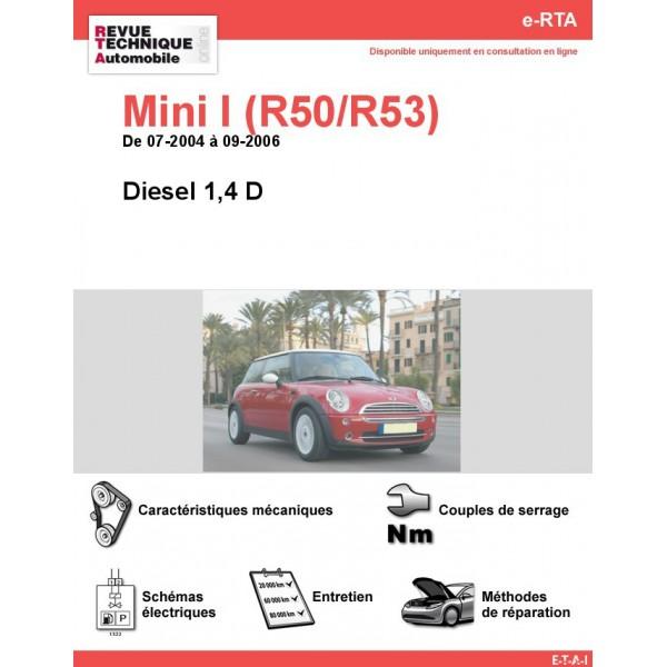e-RTA Mini I (R50/R53) Diesel (07-2004 à 09-2006)