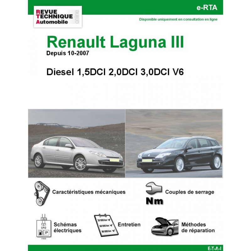 revue technique renault laguna iii diesel rta site officiel etai. Black Bedroom Furniture Sets. Home Design Ideas