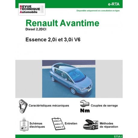 e-RTA Renault Avantime Esssence et Diesel