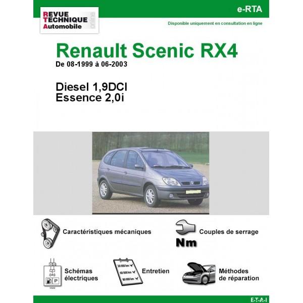 e-RTA Renault Scenic RX4 Essence et Diesel