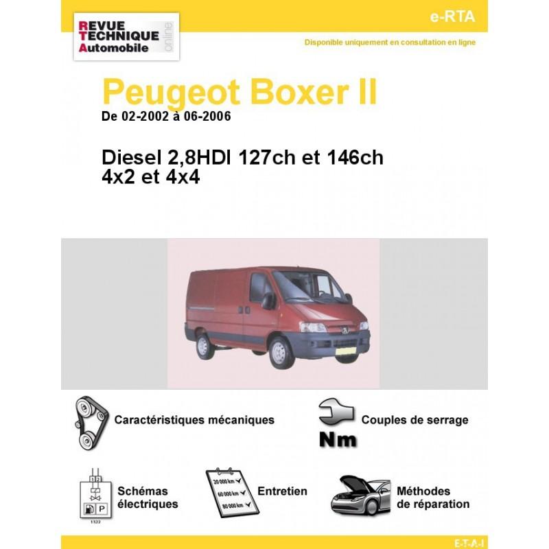 revue technique peugeot boxer ii diesel 2 8hdi rta site officiel etai. Black Bedroom Furniture Sets. Home Design Ideas