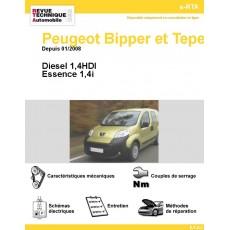 e-RTA Peugeot Bipper et tepee Essence et Diesel