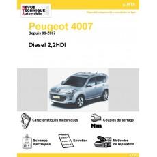 e-RTA Peugeot 4007 Diesel 2,2HDI (depuis 07/2007)