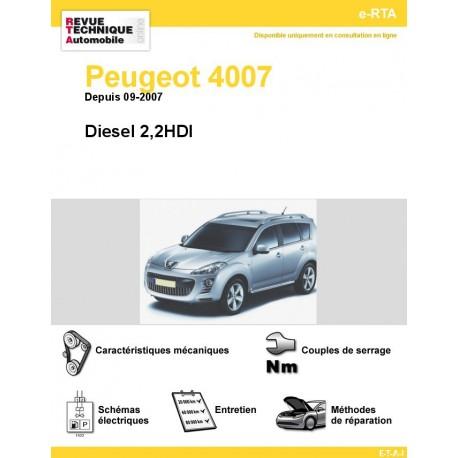 revue technique peugeot 4007 diesel 2 2hdi rta site officiel etai. Black Bedroom Furniture Sets. Home Design Ideas