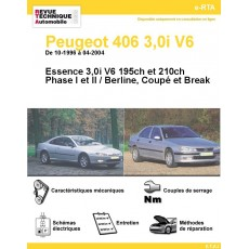 Revue Technique Automobile Peugeot 406 V6