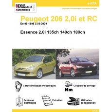 Revue Technique Automobile Peugeot 206 S16 et RC