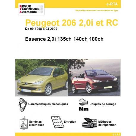 e-RTA Peugeot 206 2,0i S16 et RC