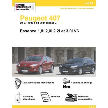 e-RTA Peugeot 407 Essence Phase 2 ( De 07-2008 à 04-2011)