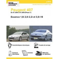 e-RTA Peugeot 407 Essence Phase 1 ( De 07-2004 à 07-2008)