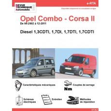 e-RTA Opel Combo - Corsa II (C) Diesel (De 04-2002 à 12-2011)