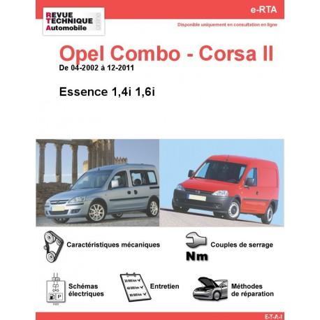 e-RTA Opel Combo - Corsa II (C) Essence (De 04-2002 à 12-2011)