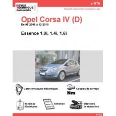 e-RTA Opel Corsa IV (D) Essence (De 09-2006 à 12-2010)