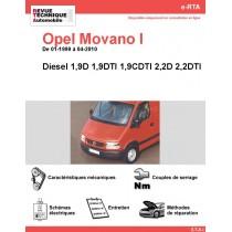 e-RTA Opel Movano I Diesel (01-1999 à 04-2010)
