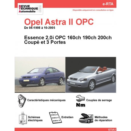 e-RTA Opel Astra II Coupé 2.0i 200 et OPC