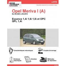 e-RTA Opel Meriva I (A) Essence et GPL (De 04-2003 à 09-2010)