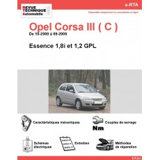 e-RTA Opel Corsa III (C) Essence et GPL (De 10-2000 à 09-2006)