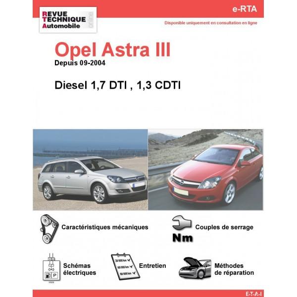 e-RTA Opel Astra III Diesel (Depuis 09-2004)