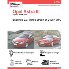 e-RTA Opel Astra III 2,0i 200 TWINTOP ET 240 OPC