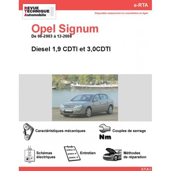 e-RTA Opel Signum Diesel