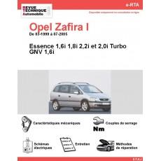 e-RTA Opel Zafira I Essence & GNV (03-1999 à 07-2005)