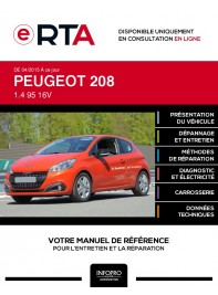 E-RTA Peugeot 208 HAYON 3 portes de 04/2015 à ce jour