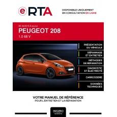 E-RTA Peugeot 208 HAYON 5 portes de 04/2015 à ce jour