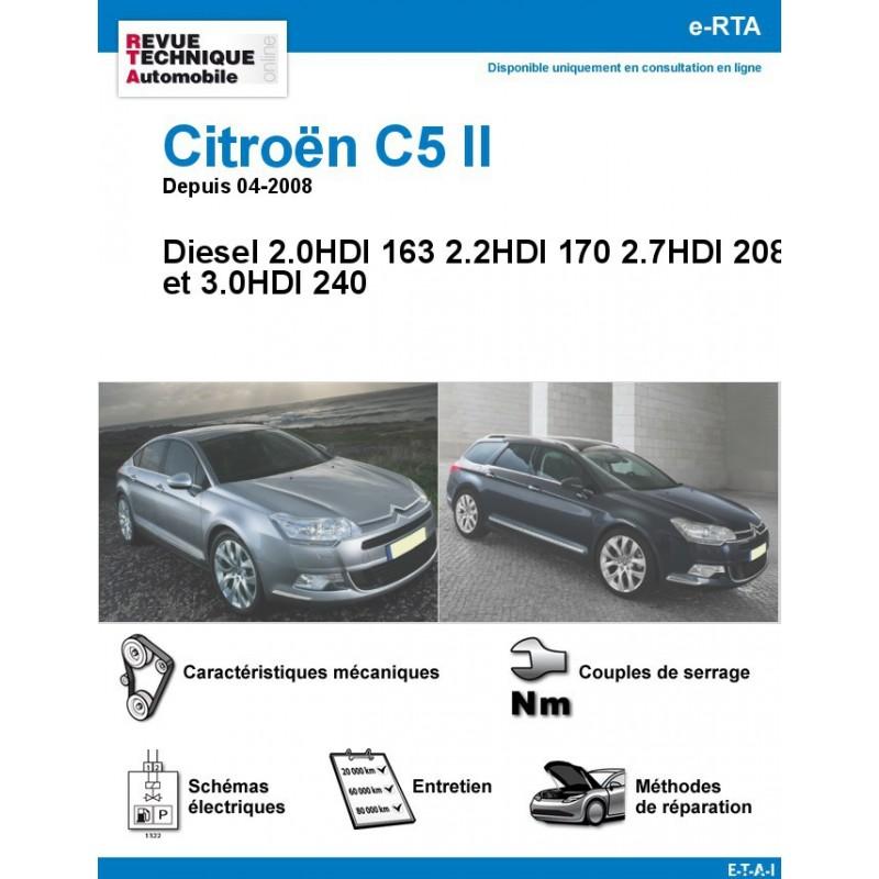 revue technique citro n c5 ii diesel 163ch et plus rta site officiel etai. Black Bedroom Furniture Sets. Home Design Ideas