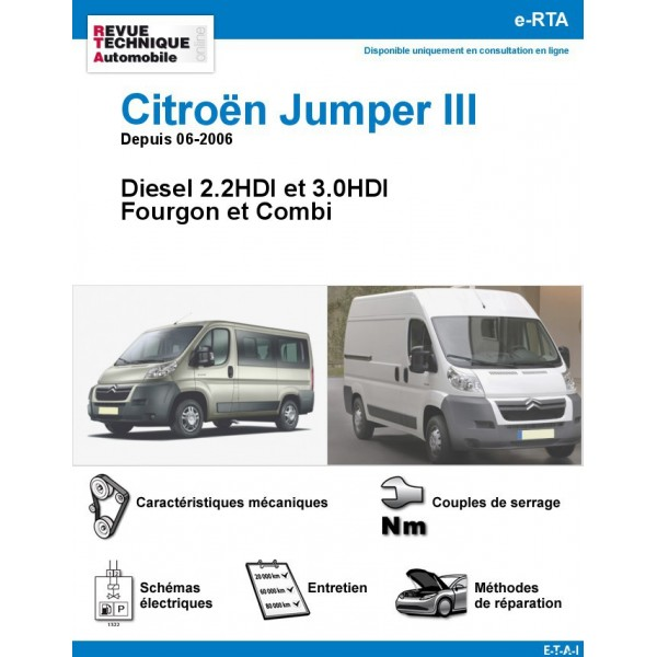 revue technique citro n jumper iii diesel depuis 06 2006. Black Bedroom Furniture Sets. Home Design Ideas