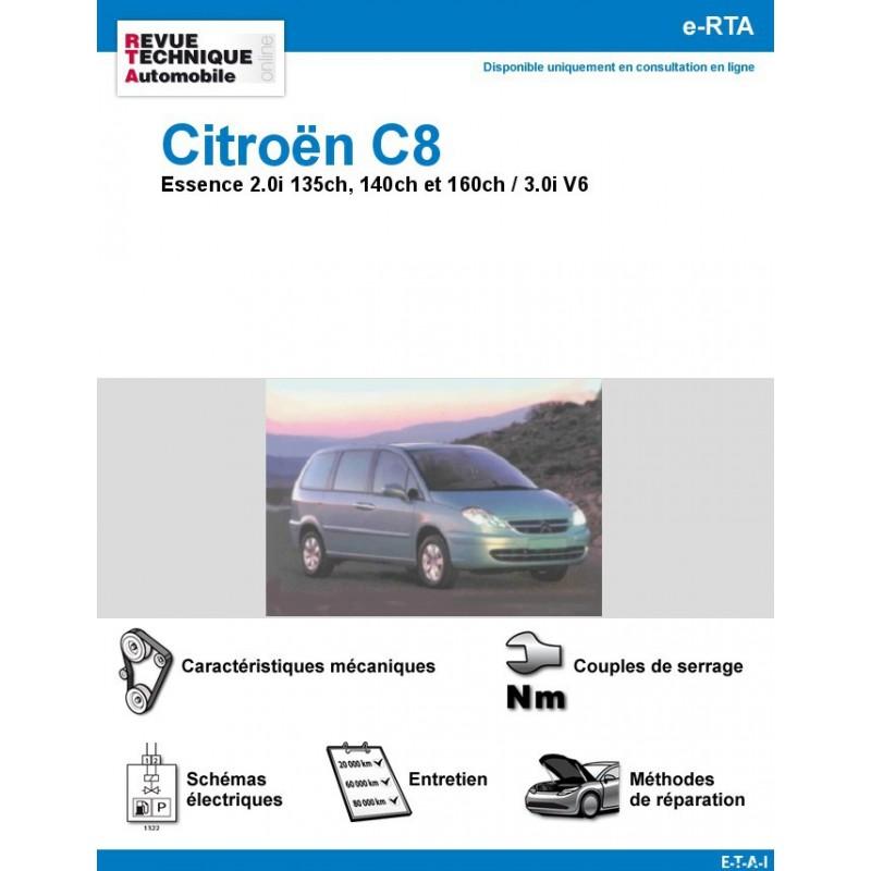 revue technique citro n c8 essence 2 0i et v6 rta site officiel etai. Black Bedroom Furniture Sets. Home Design Ideas