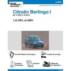 e-RTA Citroën Berlingo I GPL et GNV - de 11-2002 à 10-2010