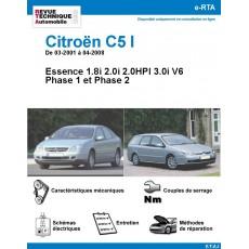 e-RTA Citroën C5 I Essence - De 03-2001 à 04-2008