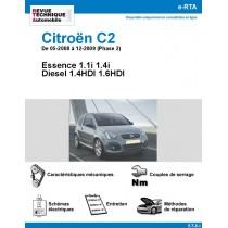 e-RTA Citroën C2 De 05-2008 à 12-2009 (Phase 2) Essence et Diesel