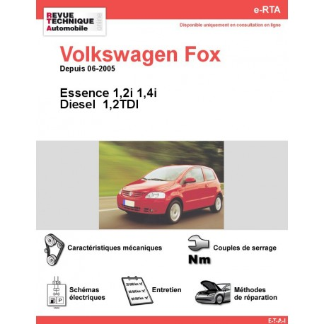 e-RTA Volkswagen Fox Essence et Diesel