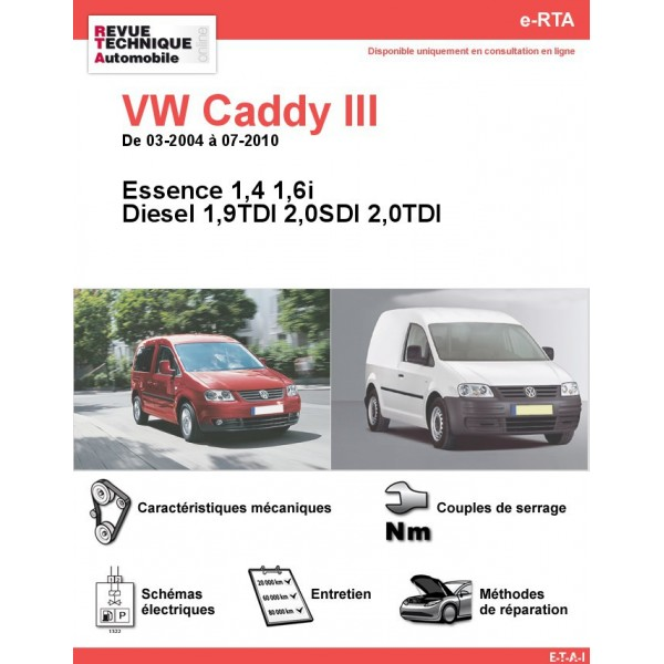 revue technique volkswagen caddy iii essence et diesel. Black Bedroom Furniture Sets. Home Design Ideas
