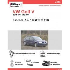 e-RTA Volkswagen Golf V Essence  (11-2003 à 10-2008)