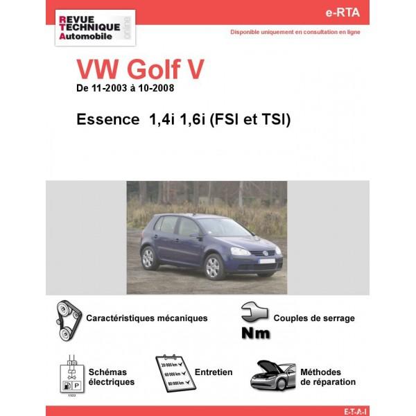 revue technique volkswagen golf v essence rta site officiel etai. Black Bedroom Furniture Sets. Home Design Ideas