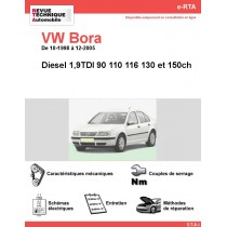 e-RTA Volkswagen Bora Diesel (10-1998 à 12-2005)