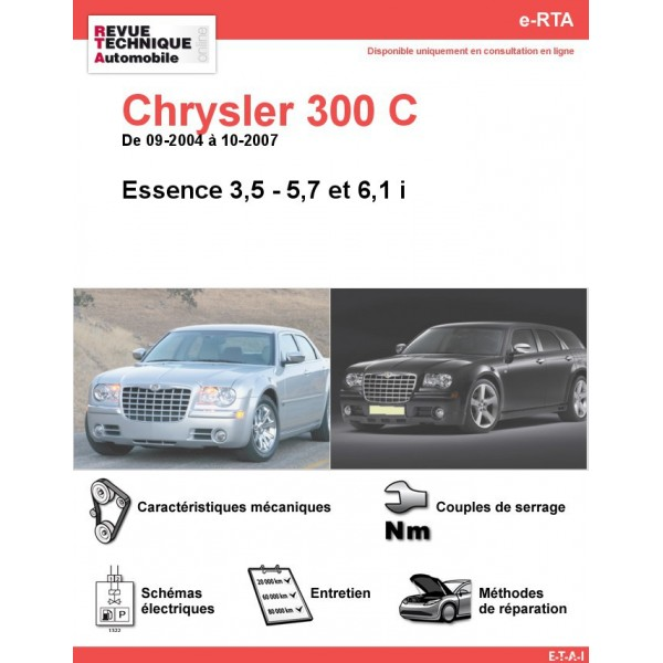 e-RTA Chrysler 300 C Essence (09-2004 à 10-2007)