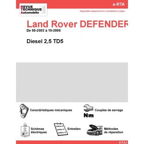 e-RTA Land Rover DEFENDER IV Diesel 2,5 TD5 (09-2003 à 10-2006)