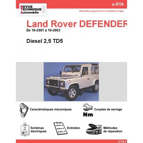 e-RTA Land Rover DEFENDER II Diesel 2,5 TD5 (10-2001 à 10-2002)