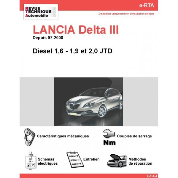 revue technique lancia delta iii diesel rta site officiel etai. Black Bedroom Furniture Sets. Home Design Ideas