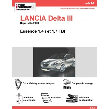 e-RTA LANCIA Delta III Essence (Depuis 07-2008)